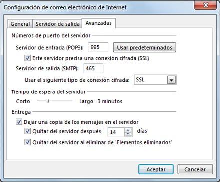 Cómo configurar un correo en Outlook 2013