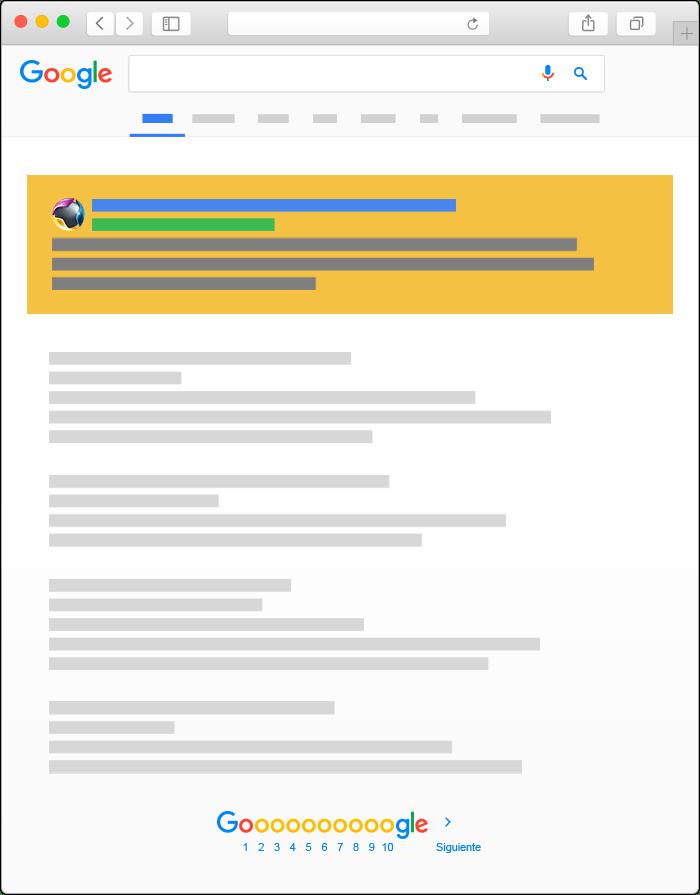 Publicidad en Google Ads - Búsqueda