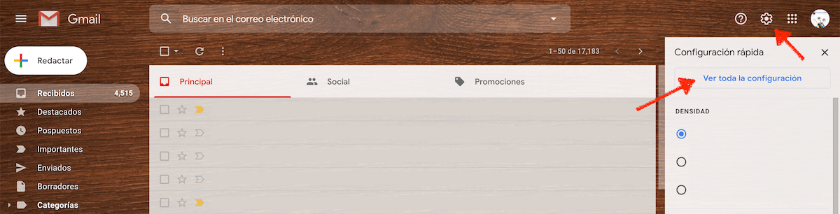 Cómo configurar un correo en Gmail